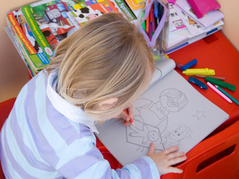 Toddler colouring