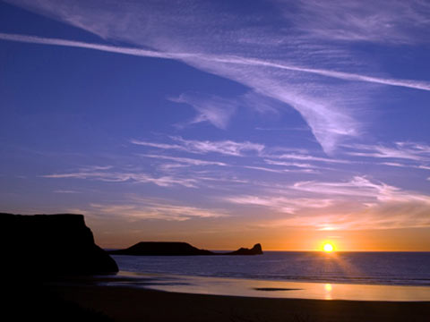 Gower, Worms Head, Wales