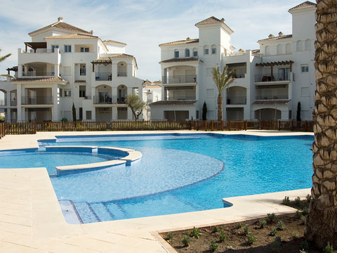 Pool side, Golf Complex, Murcia, Spain